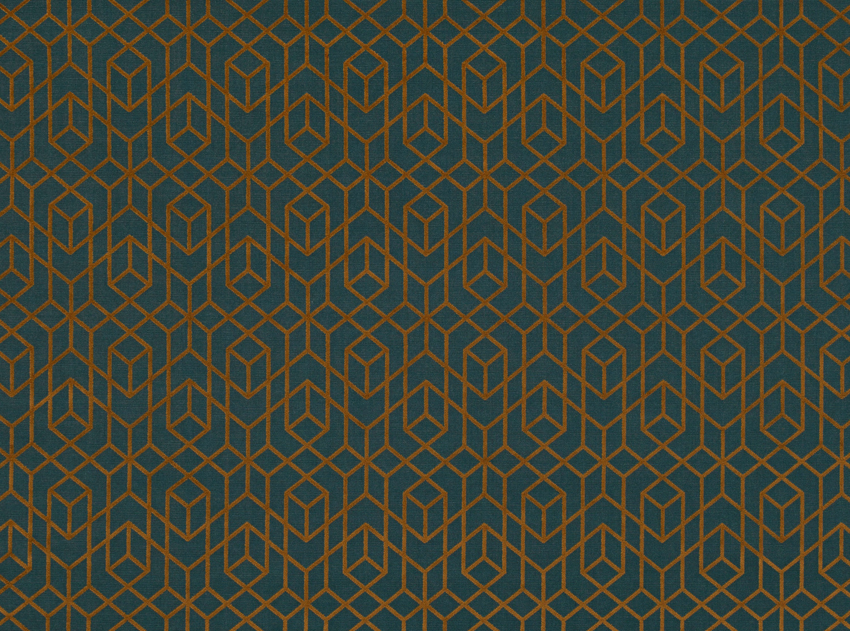Salon Taupe Et Turquoise romo - botero - 7844/07 copper