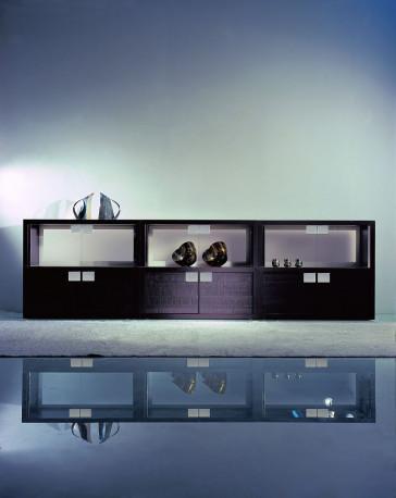 Reflex Giano MODULARE - Offen mit Glasrückwand, sandgestrahlt und lackiert, Latte Farbe