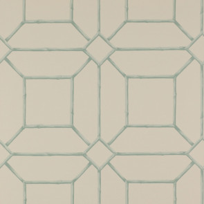 Colefax and Fowler - Summer Palace - Garden Trellis 7947/03 Aqua/Cream