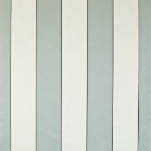 Dominique Kieffer - Larges Rayures de Coton - Bleu d'azur et blanc 17183-002