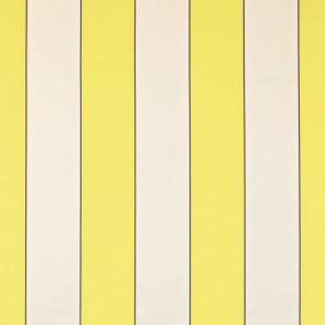 Dominique Kieffer - Larges Rayures de Coton - Citron et blanc 17183-006