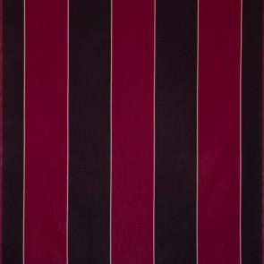 Dominique Kieffer - Larges Rayures de Coton - Cyclamen et acier 17183-008