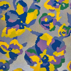 Casamance - Effervescence - Efflorescence Fleur Jaune / Bleu 72570591
