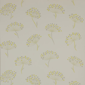 Jane Churchill - Alba - Alba - J116W-06 Yellow/Grey