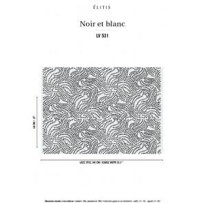 Élitis - Noir et blanc - Rechercher l'élégance LV 531 01